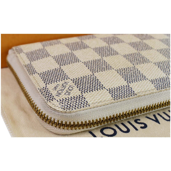 Louis Vuitton Damier Azur Zippy Organizer Wallet White - Louis Vuitton engraved