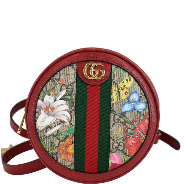GUCCI Ophidia GG Flora Mini Supreme Backpack Bag Red 598661