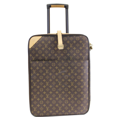 LOUIS VUITTON Pegase 55 Monogram Canvas Business Suitcase Travel Bag Brown