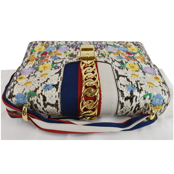 Gucci Small Sylvie Floral Embroidered Bag multicolor