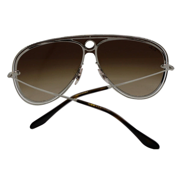 Ray-Ban RB3605N 909613 Sunglasses Gold/Silver Frame Brown Gradient Lens