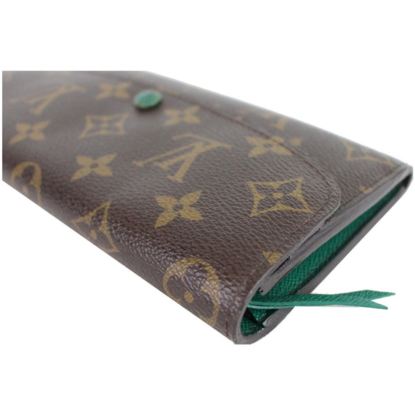 Lv Emilie Monogram Canvas Wallet Brown corner preview