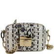 VERSACE Unica Python Embossed Leather Crossbody Bag White