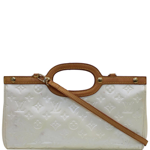LOUIS VUITTON Roxbury Drive Vernis Leather Shoulder Bag Cream
