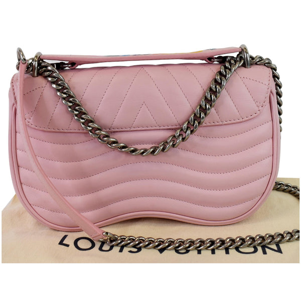 LOUIS VUITTON New Wave Chain MM Calfskin Leather Shoulder Bag Rose Pink