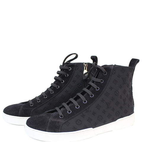 LOUIS VUITTON High Top Suede Sneaker Blue