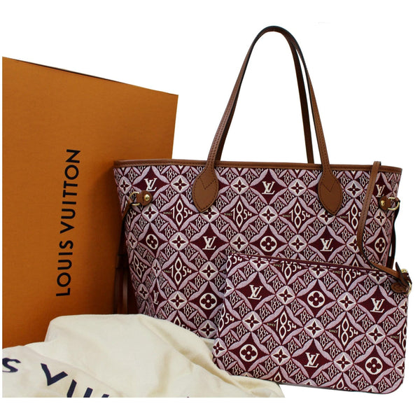 Louis Vuitton Neverfull MM Jacquard Leather Bag front