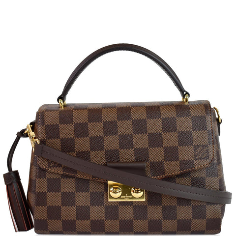 LOUIS VUITTON Croisette Damier Ebene Crossbody Bag Brown