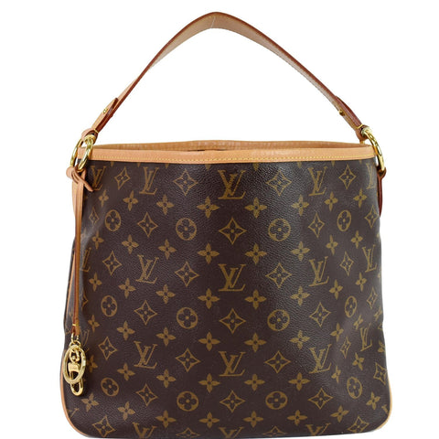 LOUIS VUITTON Delightful PM Monogram Canvas Hobo Bag Brown