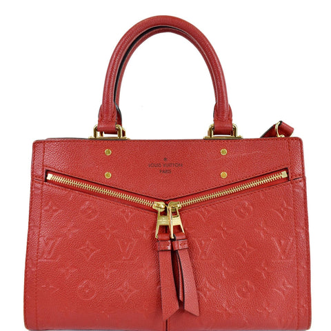 LOUIS VUITTON Sully PM Monogram Empreinte Leather Shoulder Bag Red