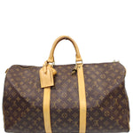 LOUIS VUITTON Keepall 45 Monogram Canvas Travel Bag Brown