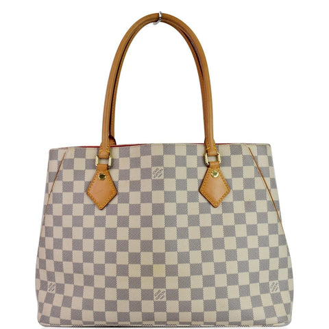 LOUIS VUITTON Calvi Damier Azur Shoulder Bag White