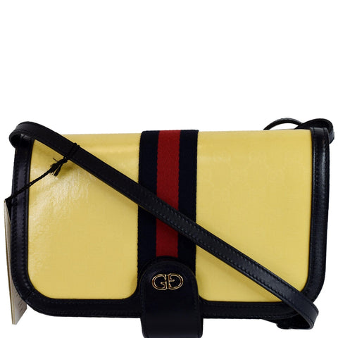 GUCCI Imprime Web Ophidia Messenger Bag 547799 Yellow
