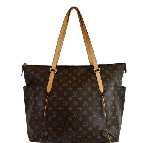 LOUIS VUITTON Totally GM Monogram Canvas Tote Shoulder Bag Brown