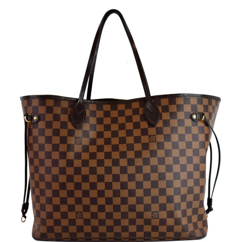 LOUIS VUITTON Neverfull GM Damier Ebene Tote Shoulder Bag Brown