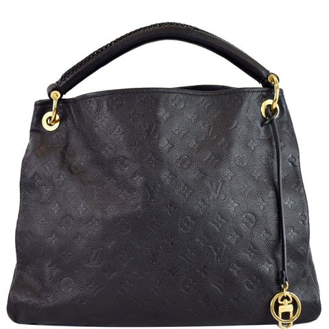 LOUIS VUITTON Artsy MM Empreinte Leather Shoulder Bag Navy