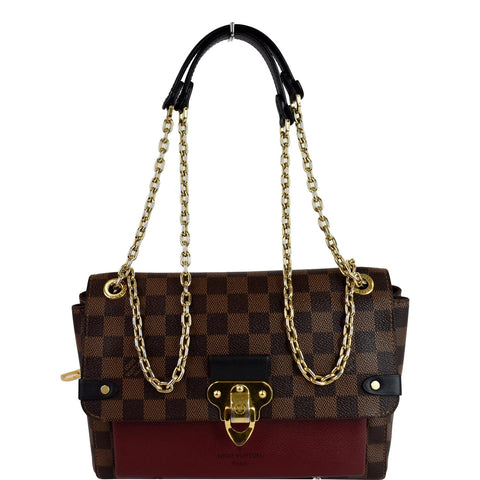 LOUIS VUITTON Vavin PM Damier Ebene Shoulder Bag Brown