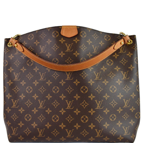 LOUIS VUITTON Graceful MM Monogram Canvas Shoulder Bag Brown