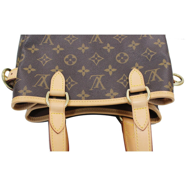upper view lv Batignolles Vertical Monogram Canvas Bag