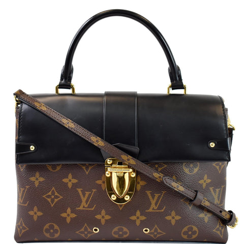 LOUIS VUITTON One Handle Flap MM Monogram Canvas Shoulder Bag Brown