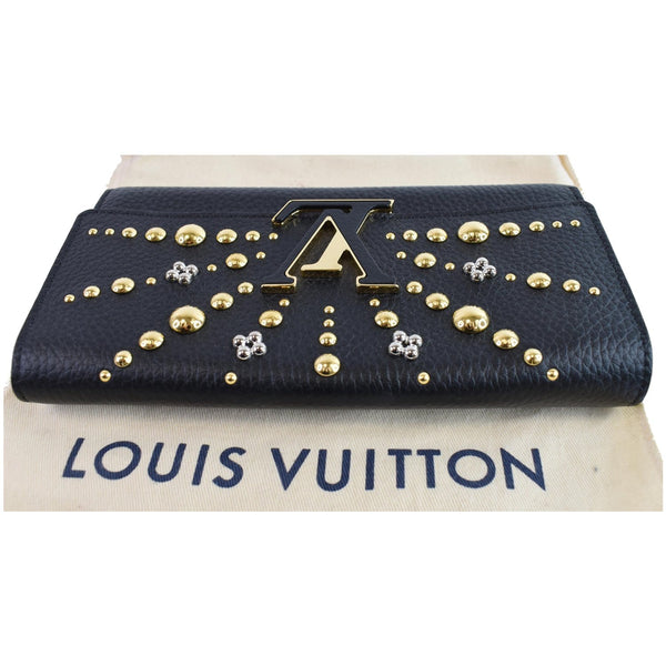 Louis Vuitton Capucines Studded Taurillon leather wallet