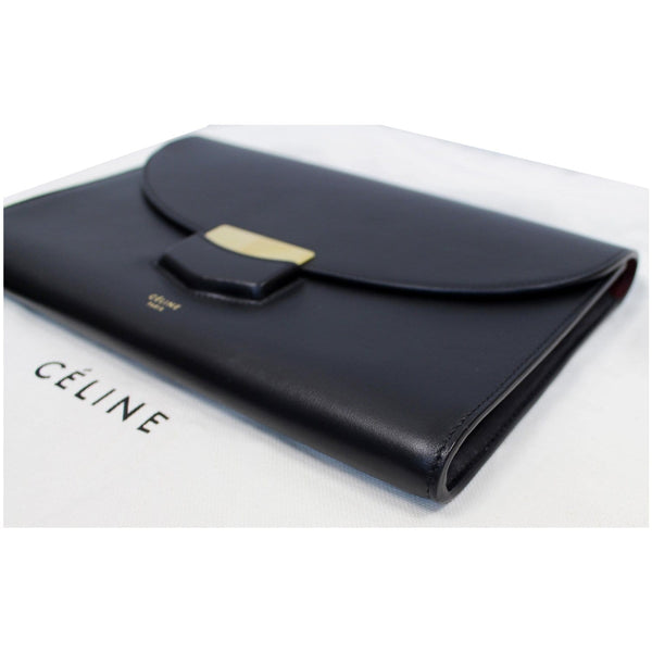CELINE Trotteur Large Flap Multifunction Smooth Leather Wallet Black