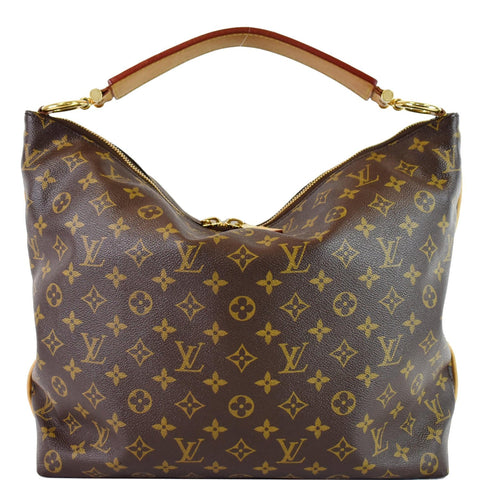 LOUIS VUITTON Sully MM Monogram Canvas Shoulder Bag Brown