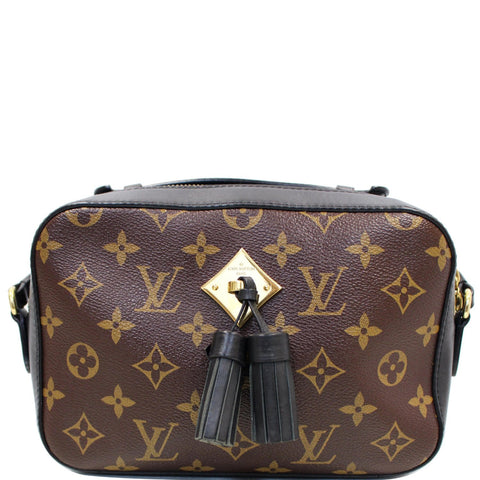 LOUIS VUITTON Saintonge Monogram Canvas Shoulder Bag Noir Black