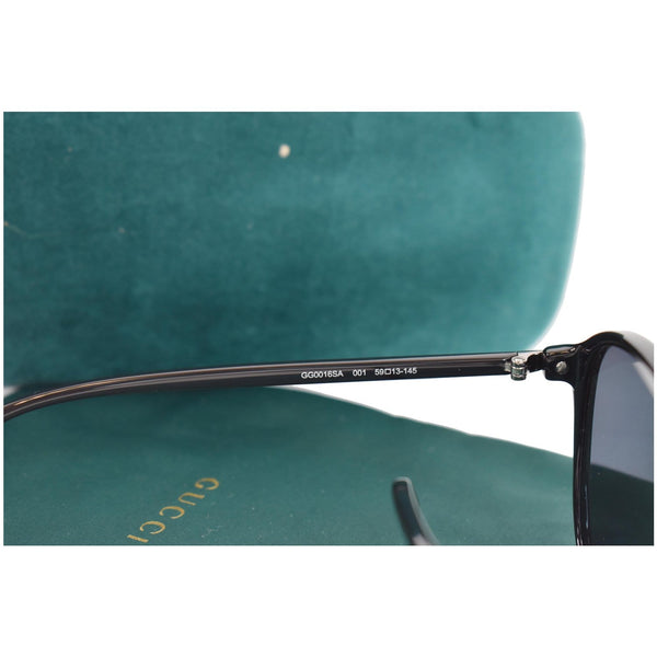 GUCCI Rectangular Sunglasses GG0016SA Black