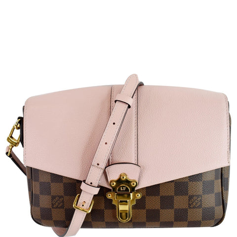 LOUIS VUITTON Clapton Damier Ebene Crossbody Bag Magnolia