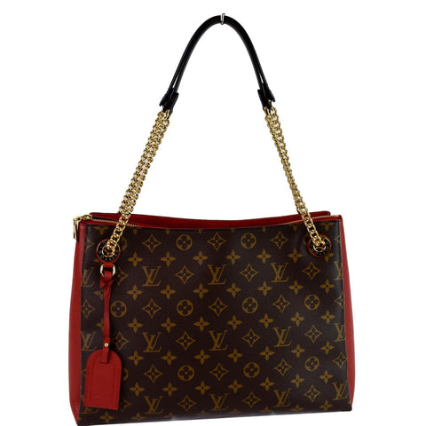 LOUIS VUITTON Surene MM Monogram Canvas Shoulder Bag Cerise