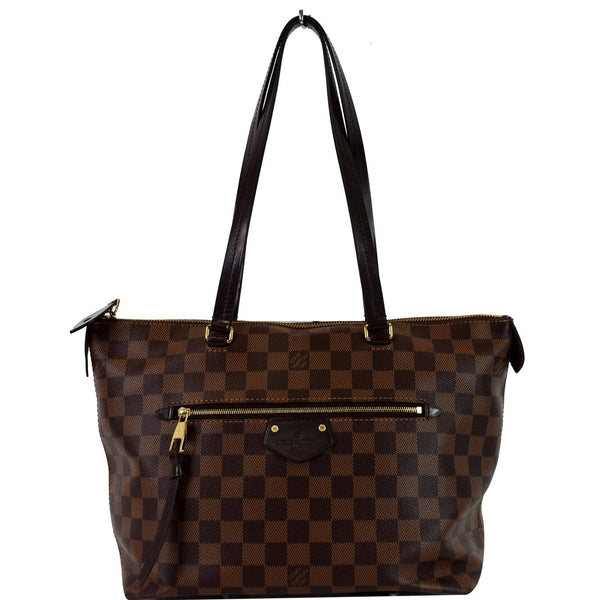 LOUIS VUITTON Iena PM Damier Ebene Shoulder Bag Brown