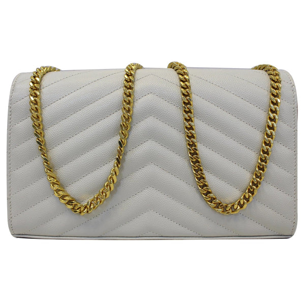 Yves Saint Laurent Wallet Chain Matelasse Chevron - back view