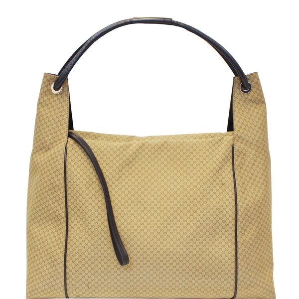GUCCI GG Oversize Zipper Pull Hobo Bag Gold 152281-US