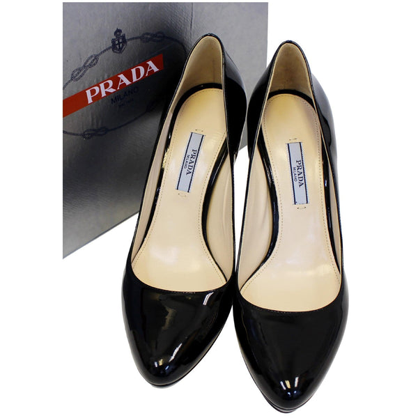 Prada Black Pumps - Patent Leather Pumps - Shoes with Box