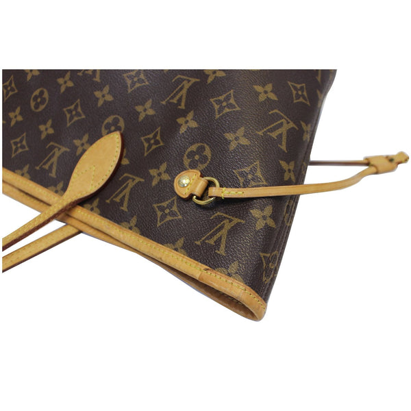 Louis Vuitton Neverfull MM - Lv Monogram Canvas Tote Bag - corner