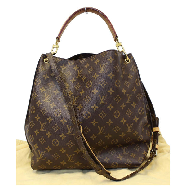 LOUIS VUITTON Metis Hobo Monogram Canvas Shoulder Bag Brown