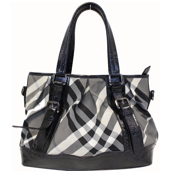 Burberry Lowry Tote Bag Beat Check Nylon - burberry straps