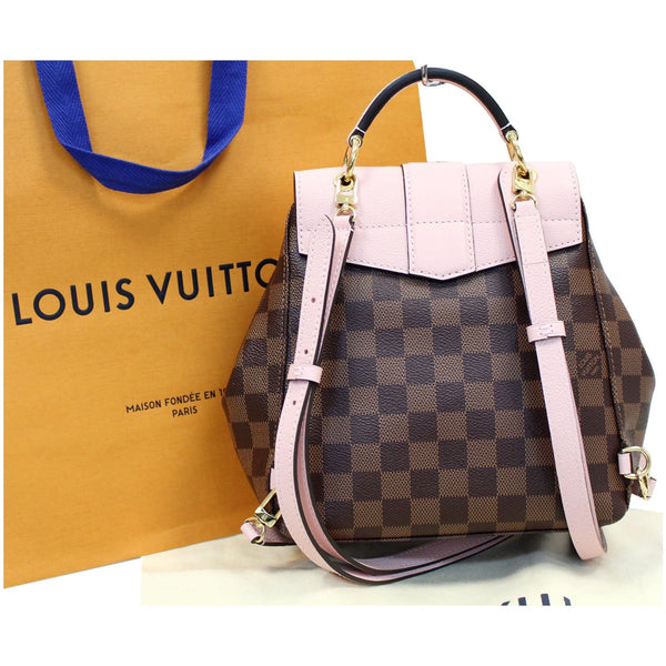 Louis Vuitton Clapton Damier Ebene Backpack Bag full view