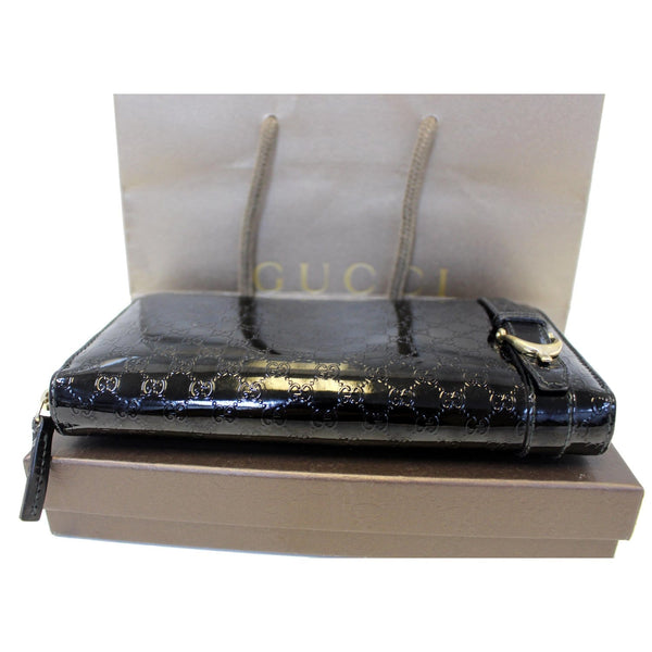 Gucci Wallet Nice Microguccissima Patent Leather - bottom view