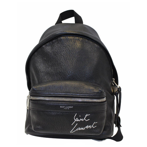575c26938098 YVES SAINT LAURENT Toy City Embroidered Leather Backpack Bag Black