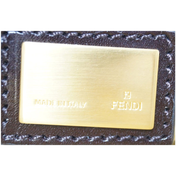 Fendi Peekaboo Striped Eel Skin Leather Bag - fendi logo