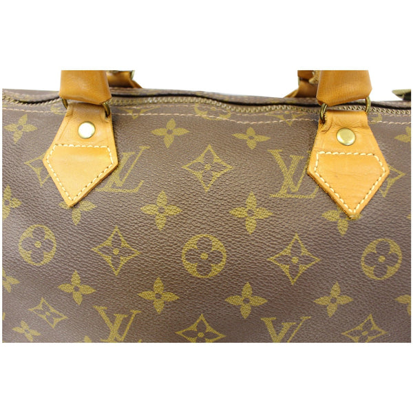 Louis Vuitton Speedy 30 Vintage French Company Satchel Handbag-US