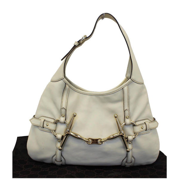 Gucci 85th Anniversary Horsebit Leather Hobo Bag White - online