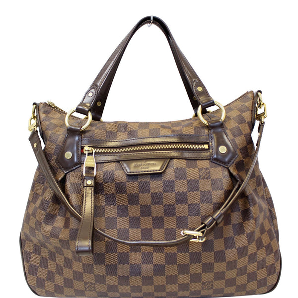 Louis Vuitton Damier Ebene Evora MM Tote Shoulder Bag