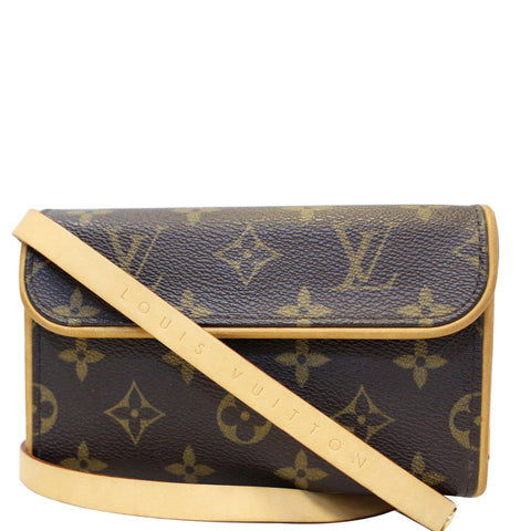 LOUIS VUITTON Pochette Florentine Monogram Canvas Waist Bag Brown