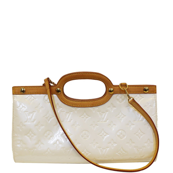Louis Vuitton Leather Roxbury Drive Vernis Shoulder Bag cream