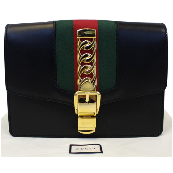 Gucci Belt Sylvie Calfskin Leather Bumbag Black - full view