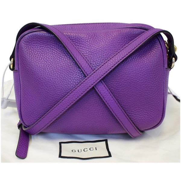 Gucci Crossbody Bag Soho Disco Pebbled Leather Small - back view