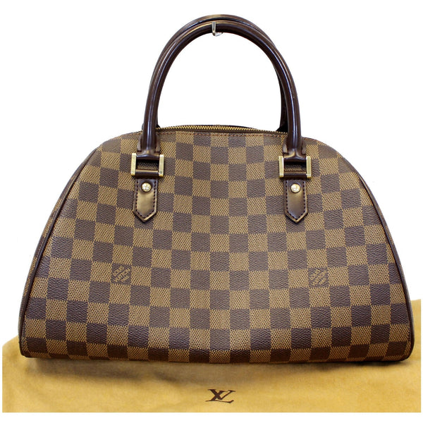 LOUIS VUITTON Ribera MM Damier Ebene Satchel Bag Brown-US